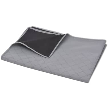 vidaXL Paklotas iškyloms, pilkas ir juodas, 100 x 150 cm[2/3]