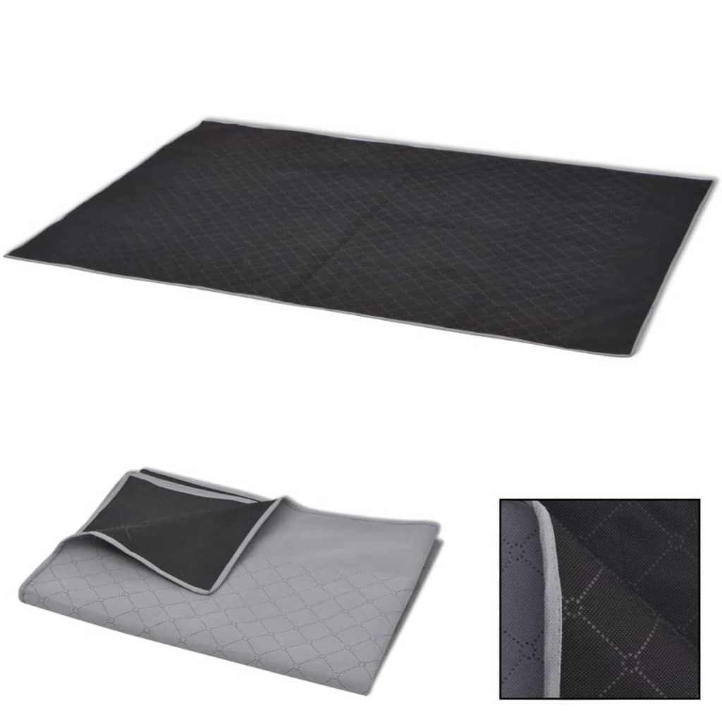 vidaXL Piknikteppe grått og svart 150x200 cm