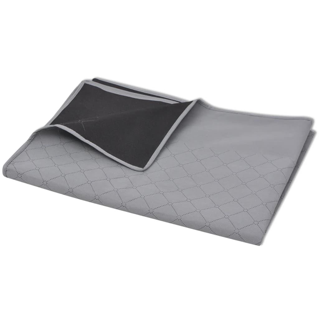 vidaXL Pikniková deka šedo-černá 150x200 cm