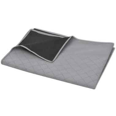 vidaXL Paklotas iškyloms, pilkas ir juodas, 150 x 200 cm[2/3]