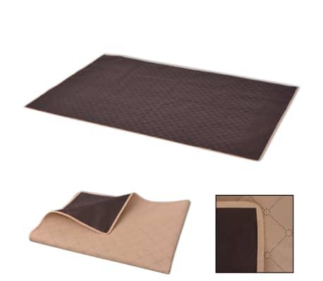 vidaXL Одеяло за пикник, бежово и кафяво, 100x150 см