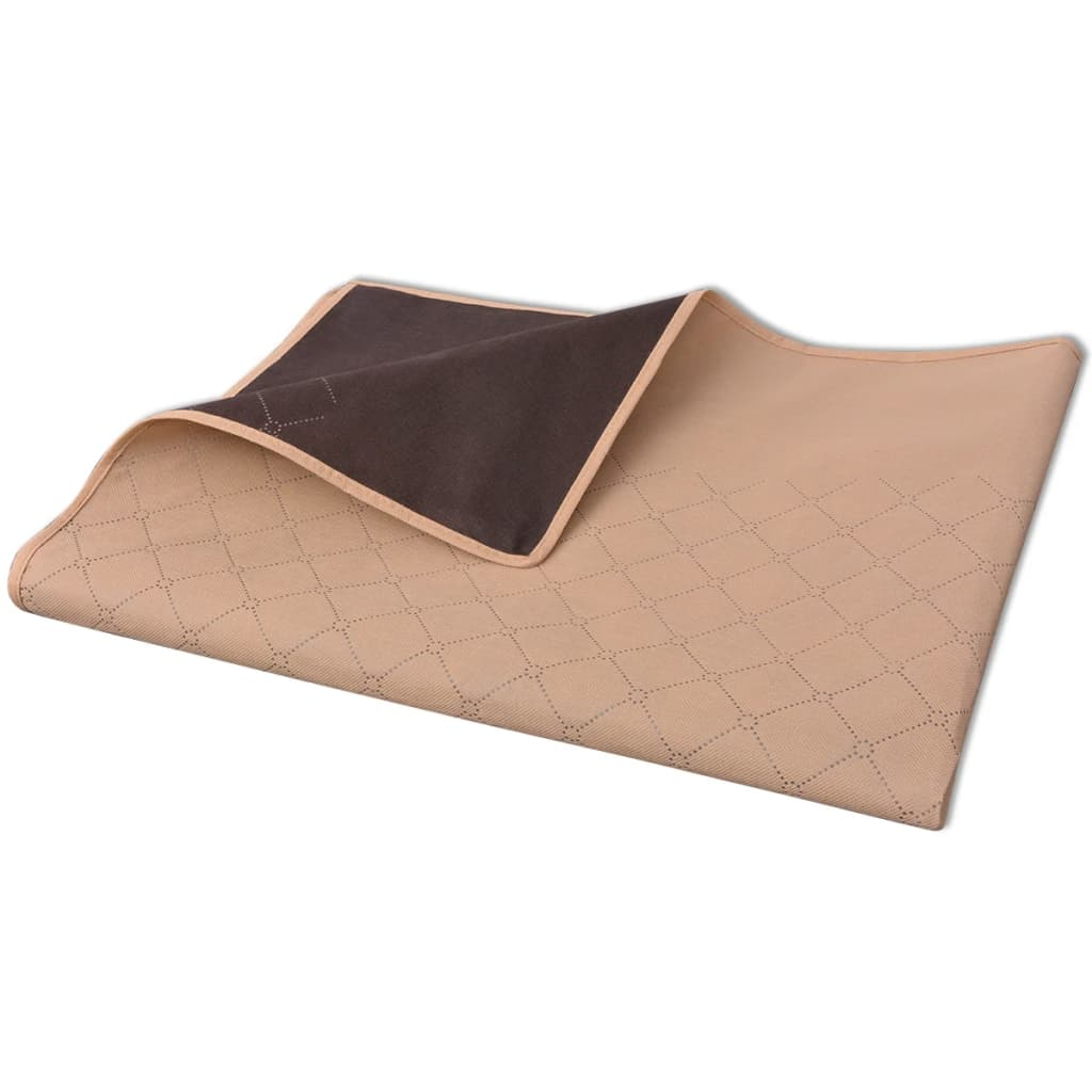 vidaXL Pikniková deka béžová a hnědá 100x150 cm