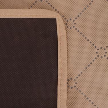 vidaXL Paklotas iškyloms, šviesiai rudas ir rudas, 150x200 cm[3/3]