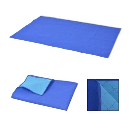 vidaXL Paklotas iškyloms, mėlynas ir šviesiai mėlynas, 100x150 cm