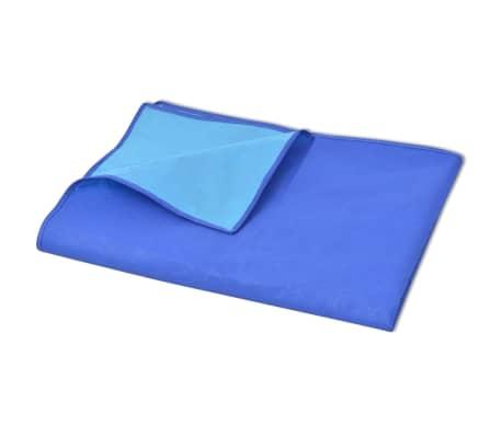 vidaXL Paklotas iškyloms, mėlynas ir šviesiai mėlynas, 100x150 cm[2/3]