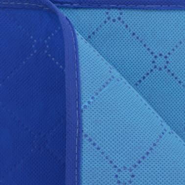 vidaXL Paklotas iškyloms, mėlynas ir šviesiai mėlynas, 100x150 cm[3/3]