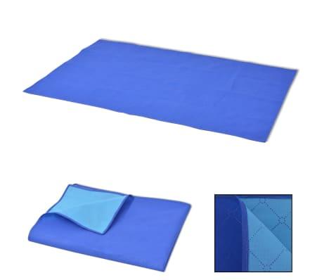 vidaXL Piknik odeja modra in svetlo modra 150x200 cm[1/3]