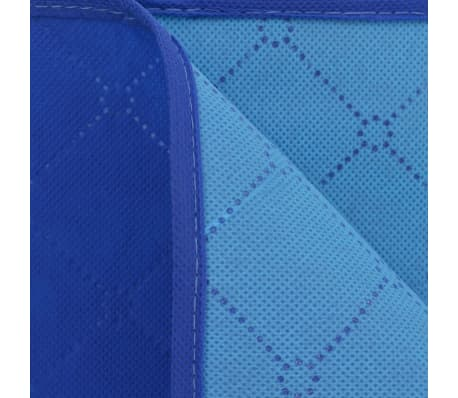 vidaXL Piknik odeja modra in svetlo modra 150x200 cm[3/3]
