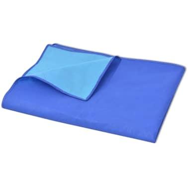 vidaXL Piknik odeja modra in svetlo modra 150x200 cm[2/3]