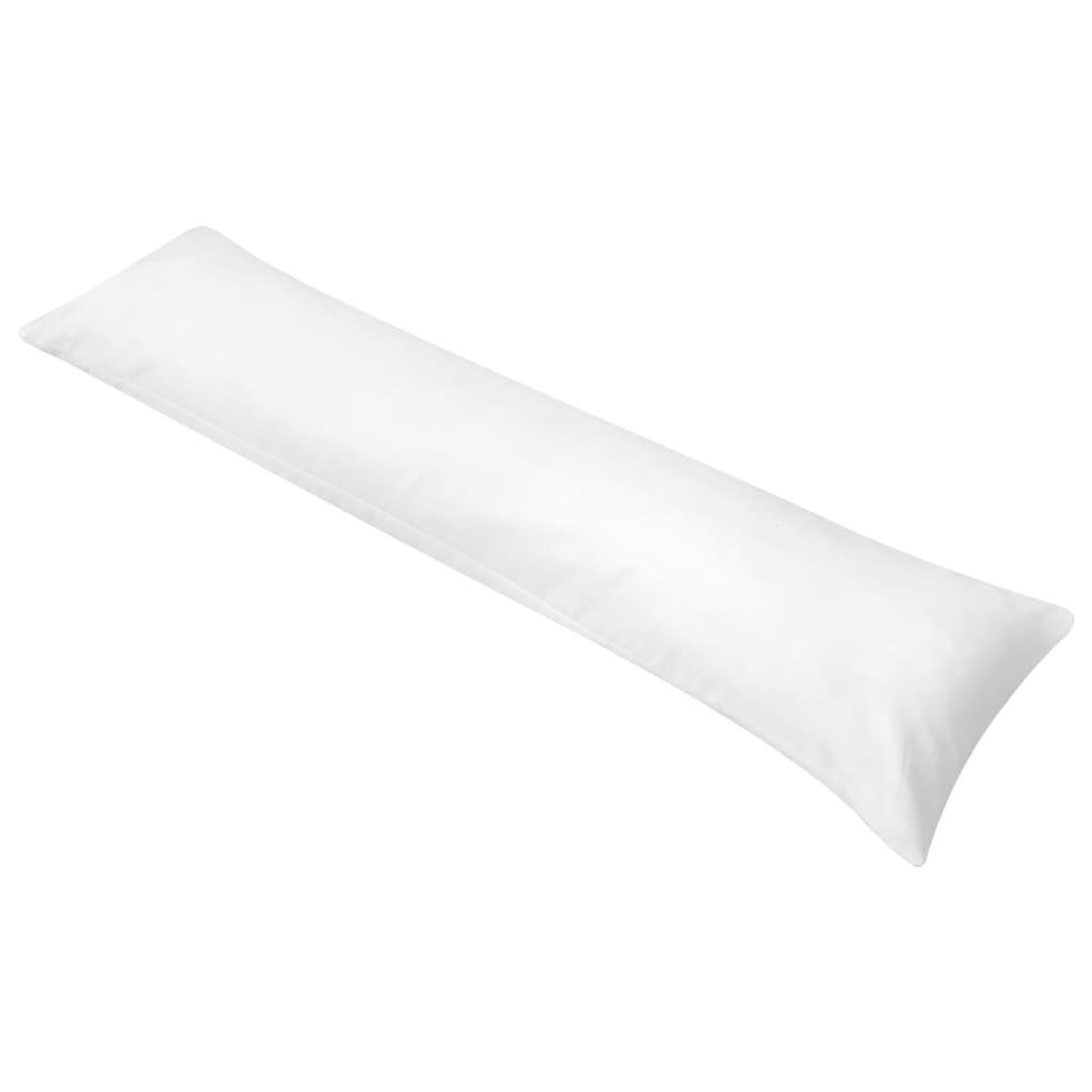 vidaXL Polštář pro tělo pro spaní na boku 40x145 cm bílý