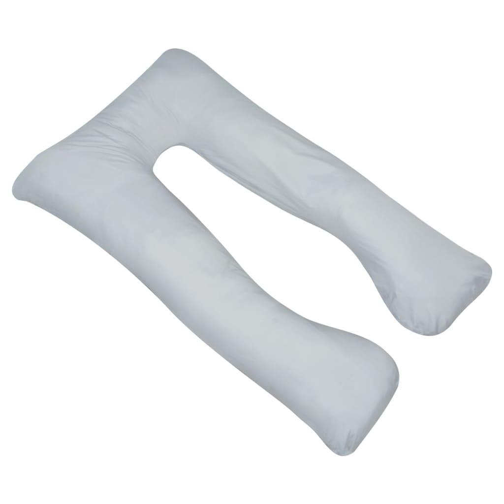 vidaXL Těhotenský polštář 90x145 cm šedý