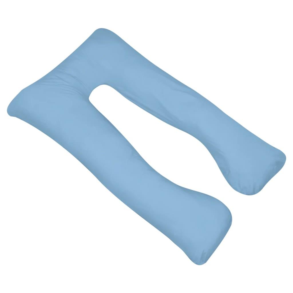 vidaXL Těhotenský polštář 90x145 cm světle modrý
