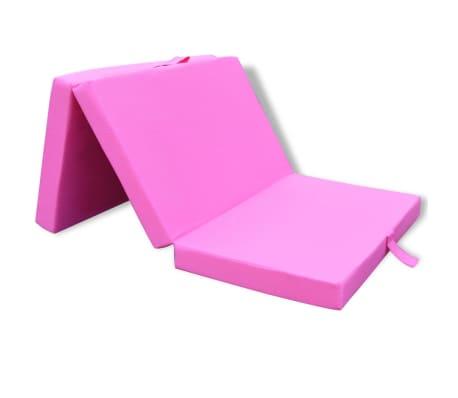 acheter vidaxl matelas pliable pour enfants rose pas cher. Black Bedroom Furniture Sets. Home Design Ideas