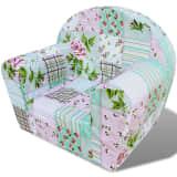 vidaXL Детски фотьойл, дизайн на цветя