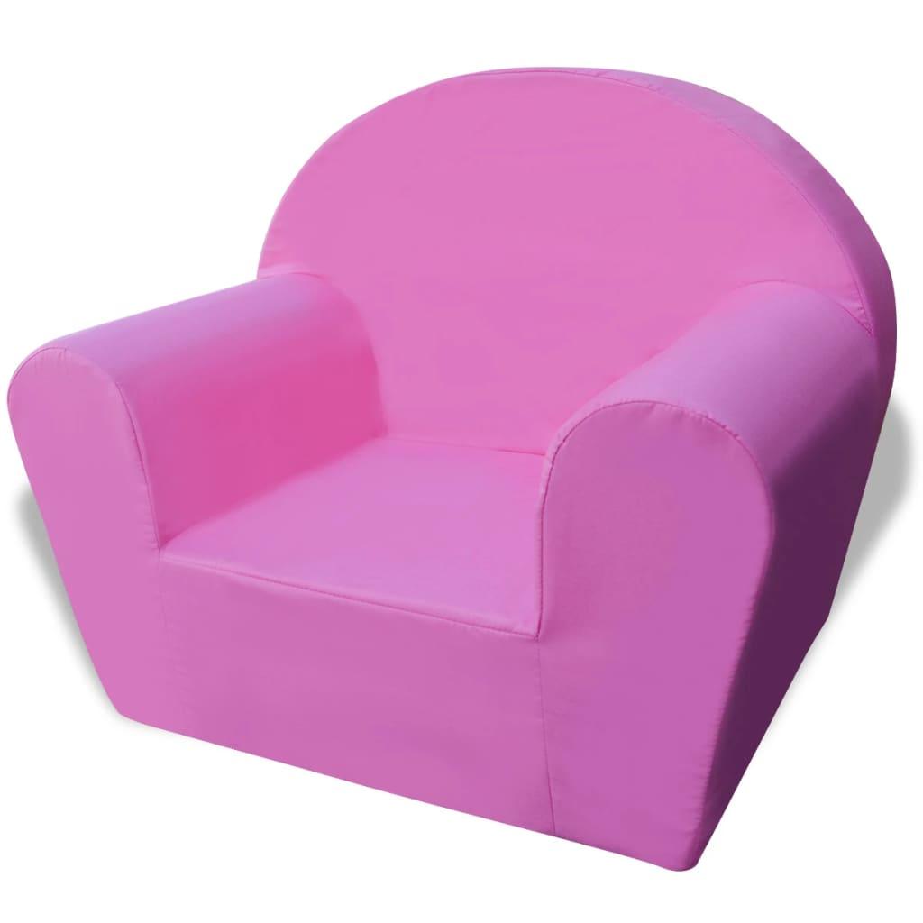 vidaXL Πολυθρόνα Παιδική Ροζ