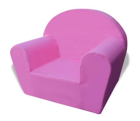 vidaXL Vaikiškas fotelis, rožinis