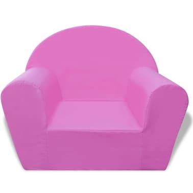 vidaXL Vaikiškas fotelis, rožinis[2/5]