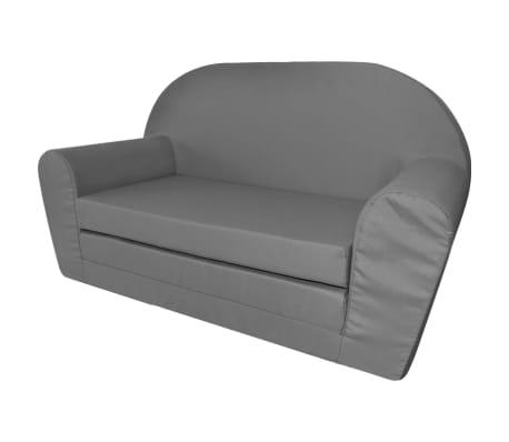 vidaXL vaikiška ištiesiama sofa, pilka[1/6]