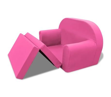 vidaXL Loungestoel voor kinderen uitklapbaar roze[3/6]