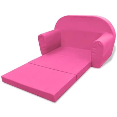 vidaXL Loungestoel voor kinderen uitklapbaar roze[4/6]