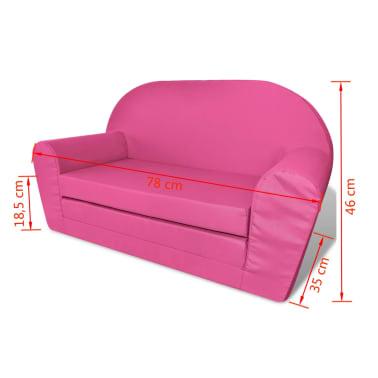 vidaXL Loungestoel voor kinderen uitklapbaar roze[6/6]