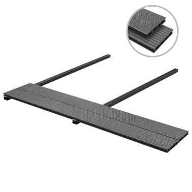 vidaXL WPC golvplattor med tillbehör 10 m² 2,2 m grå[2/9]