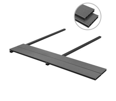vidaXL WPC golvplattor med tillbehör 26 m² 2,2 m grå[2/9]