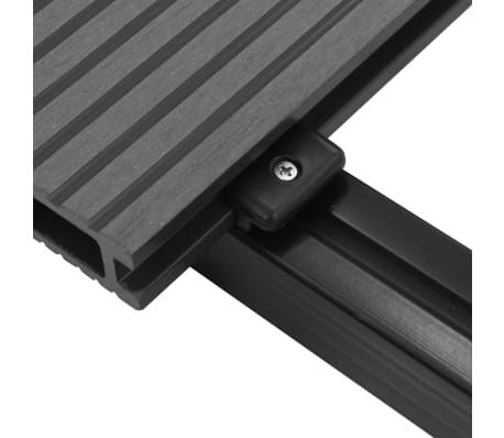 vidaXL WPC golvplattor med tillbehör 26 m² 2,2 m grå[7/9]
