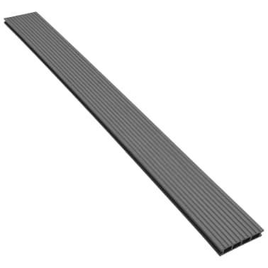 vidaXL WPC golvplattor med tillbehör 26 m² 2,2 m grå[4/9]
