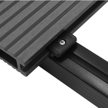 vidaXL WPC golvplattor med tillbehör 40 m² 2,2 m grå[7/9]