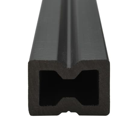 vidaXL WPC golvplattor med tillbehör 10 m² 2,2 m brun[6/9]