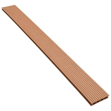 vidaXL WPC golvplattor med tillbehör 10 m² 2,2 m brun[4/9]
