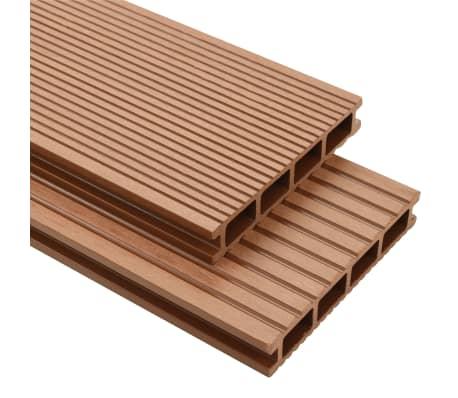 vidaXL WPC golvplattor med tillbehör 16 m² 2,2 m brun[1/9]