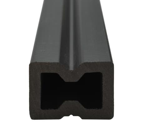 vidaXL WPC golvplattor med tillbehör 20 m² 2,2 m brun[6/9]