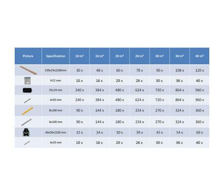 vidaXL WPC golvplattor med tillbehör 20 m² 2,2 m brun[9/9]