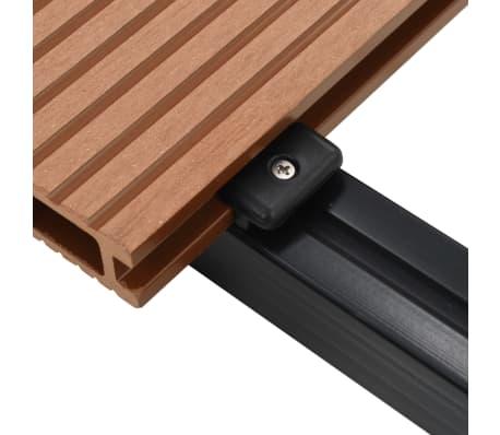 vidaXL WPC golvplattor med tillbehör 26 m² 2,2 m brun[7/9]