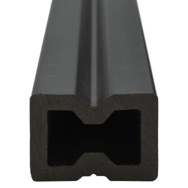 vidaXL WPC golvplattor med tillbehör 26 m² 2,2 m brun[6/9]