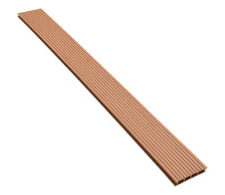 vidaXL WPC golvplattor med tillbehör 30 m² 2,2 m brun[4/9]
