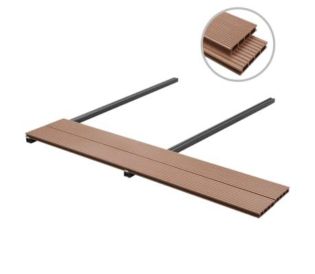 vidaXL WPC golvplattor med tillbehör 40 m² 2,2 m brun[2/9]
