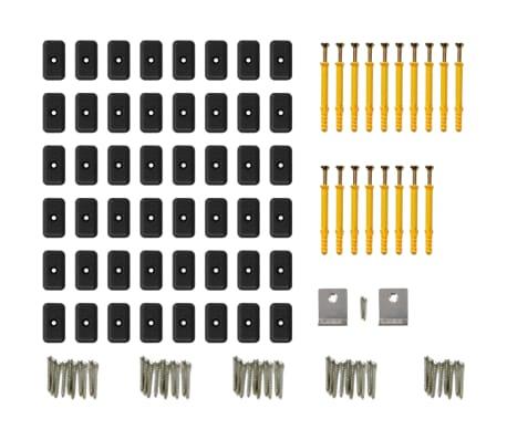 vidaXL WPC golvplattor med tillbehör 40 m² 2,2 m brun[8/9]