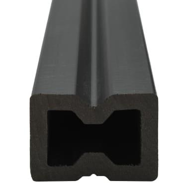 vidaXL WPC golvplattor med tillbehör 40 m² 2,2 m brun[6/9]