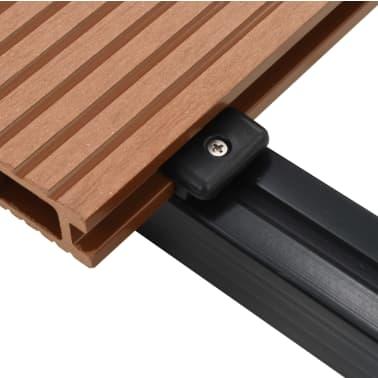 vidaXL WPC golvplattor med tillbehör 40 m² 2,2 m brun[7/9]
