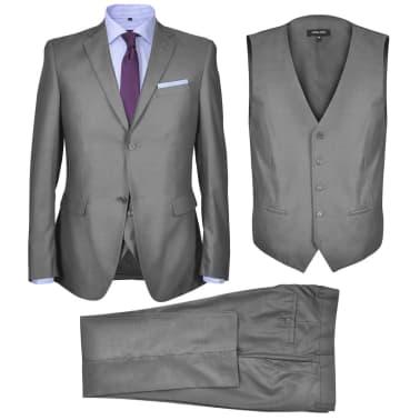 Vidaxl Traje De Vestir Para Hombres De Tres Piezas Talla 46