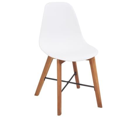 Vidaxl sillas de comedor de madera de acacia 4 uds blancas - Sillas comedor blancas ...