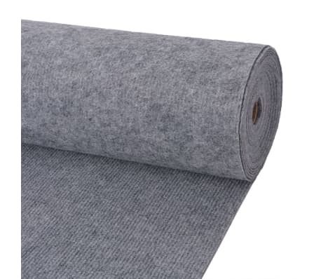 vidaXL Exhibition Carpet Rib 2x10 m Grey