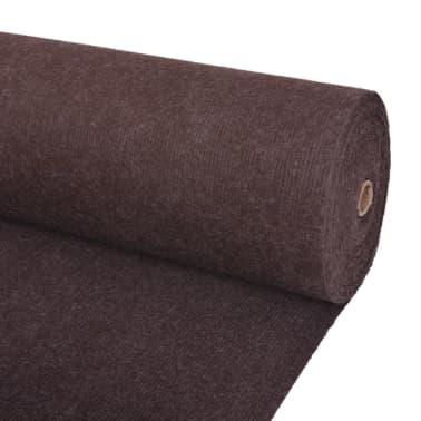 "vidaXL Exhibition Carpet Rib 78.7""x590.6"" Brown[1/3]"