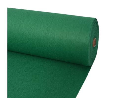 vidaXL Tapis pour exposition 1 x 12 m vert