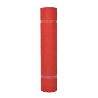 vidaXL Tapijt effen 1x24 m rood[2/3]