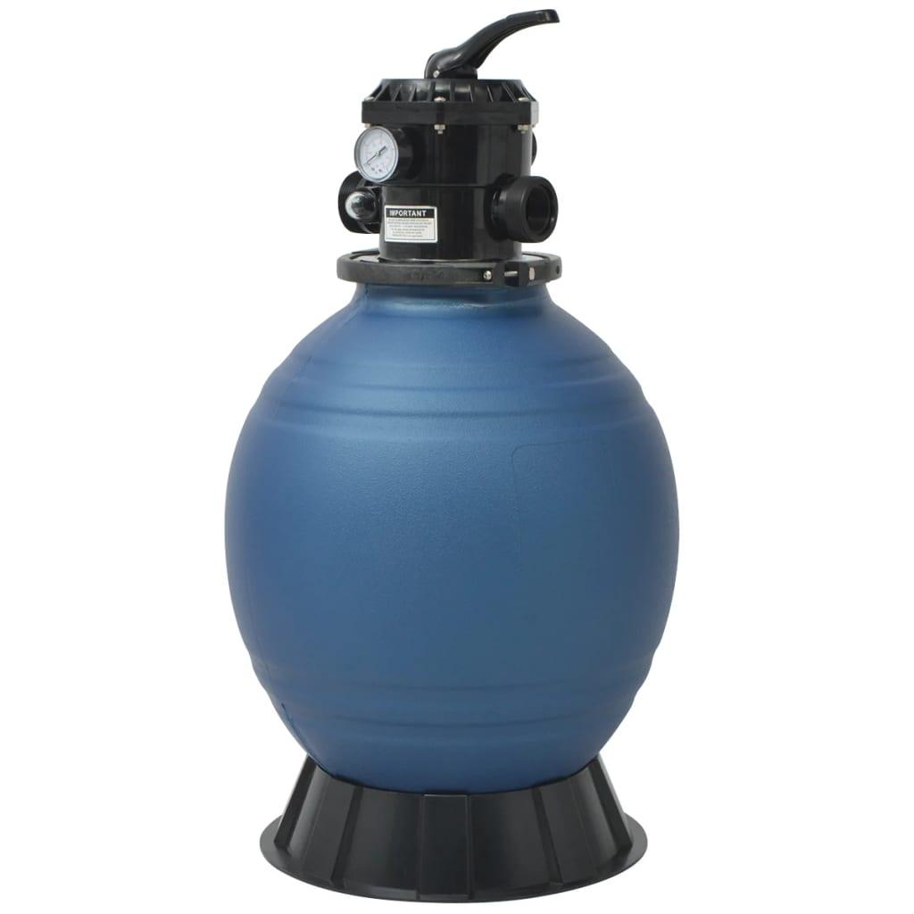 vidaXL Filtru cu nisip pentru piscină supapă 6 poziții albastru 460 mm poza vidaxl.ro