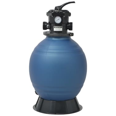 vidaXL Pool Sand Filter with 6 Position Valve Blue 18 inch[2/5]